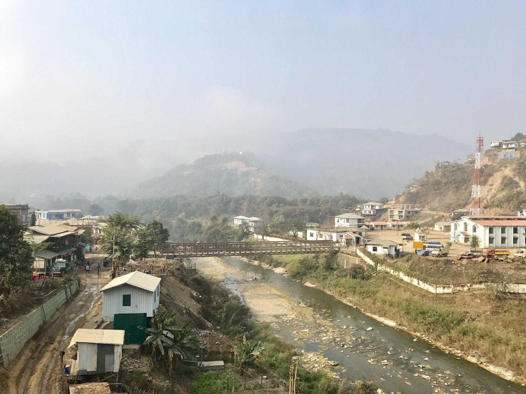 Indo-Myanmar border, along the Harhva (or Tio) River.